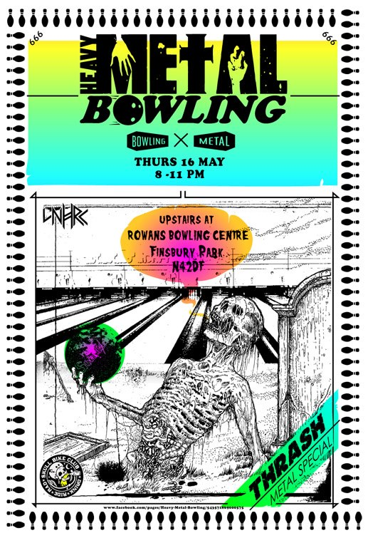 Heavy Metal Bowling Poster